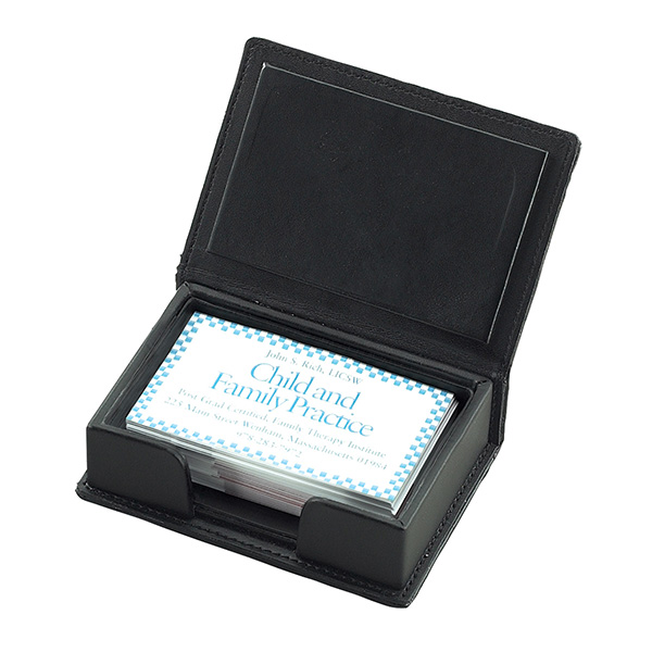 Leather business card box affinity leather office products item name leather business card box item code offc001 reheart Image collections