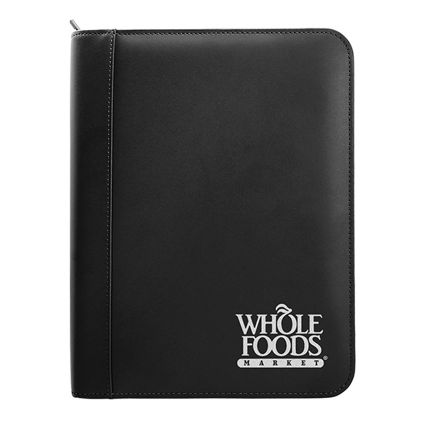 Leather Ring Binder With Zipper (8 1/2